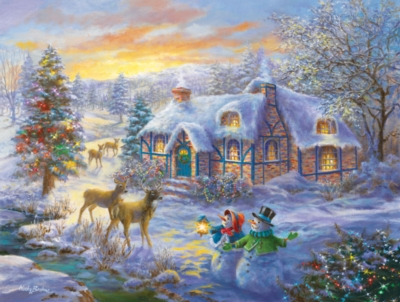 Christmas Home - 300pc Large Format Jigsaw Puzzle by SunsOut