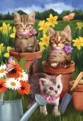 Garden Kitties - 300pc Large Format Jigsaw Puzzle by SunsOut