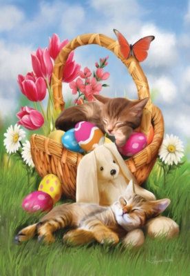 Hard Day with the Easter Bunny - 300pc Jigsaw Puzzle by SunsOut