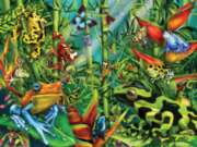 Lucky frogs gather together in this wild 300 piece puzzle