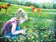 Fillies and Flowers - 300pc Jigsaw Puzzle by SunsOut