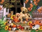 Autumn on the Porch - 300pc Jigsaw Puzzle by SunsOut