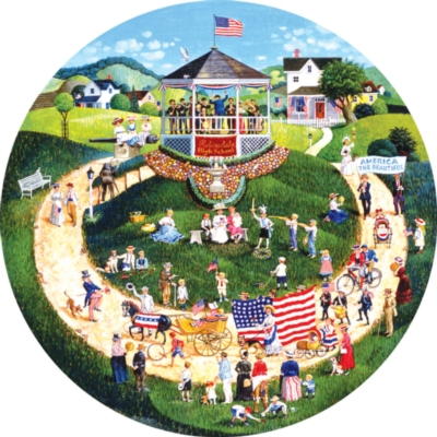 4th of July Parade - 500pc Jigsaw Puzzle by SunsOut