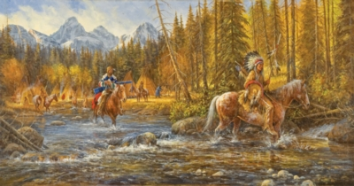 Blackfoot Trapper - 500pc Jigsaw Puzzle by SunsOut