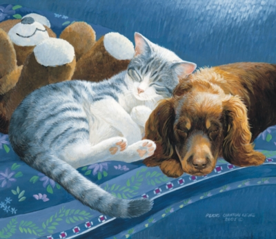 Nap with Friends - 550pc Jigsaw Puzzle by SunsOut