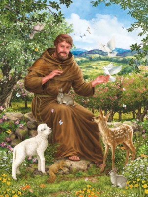 St. Francis & the Animals - 500pc Jigsaw Puzzle by SunsOut
