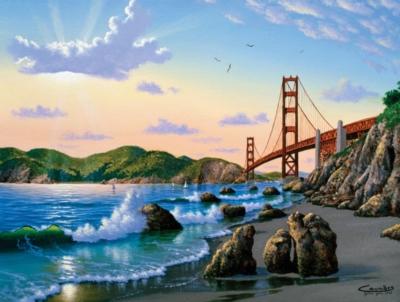 Bridge View - 500pc Jigsaw Puzzle by SunsOut