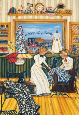 The Sewing Lesson - 500pc Jigsaw Puzzle by SunsOut