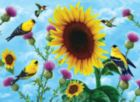 Sunflowers and Songbirds - 500+pc Jigsaw Puzzle by SunsOut