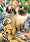 Springtime Pets - 500+pc Jigsaw Puzzle by SunsOut