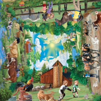 Around a Country Road - 1000pc Jigsaw Puzzle by SunsOut