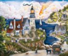Pelican Point Lighthouse - 1000pc Jigsaw Puzzle by SunsOut