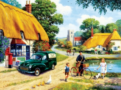 The Village Postman - 1000pc Jigsaw Puzzle by SunsOut