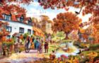 Village in Autumn - 1000pc Jigsaw Puzzle by SunsOut