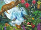 Peacock and Leopards - 1000pc Jigsaw Puzzle by SunsOut
