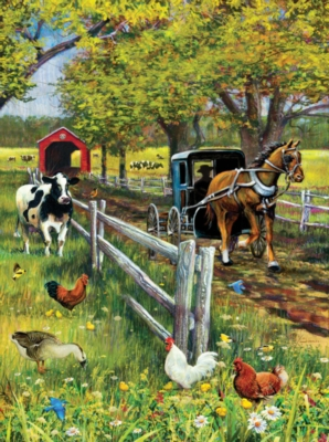 Horse and Buggy - 1000pc Jigsaw Puzzle by SunsOut