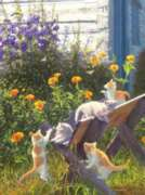 Kittens in the Country - 1000pc Jigsaw Puzzle by SunsOut