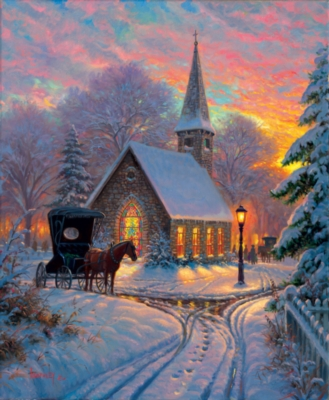 Carriage Chapel - 1000pc Jigsaw Puzzle by SunsOut
