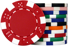 2-Tone Dice / Striped (11.5g) - Poker Chip