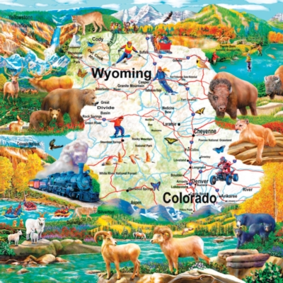 Rocky Mountain Vista - 1000pc Jigsaw Puzzle by SunsOut