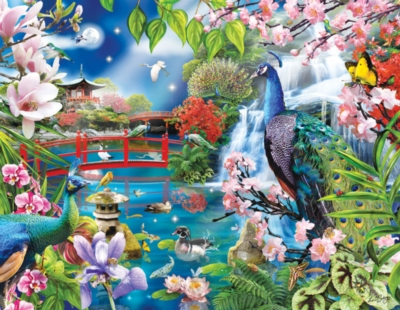 Peacock Garden - 1000pc Jigsaw Puzzle by Sunsout