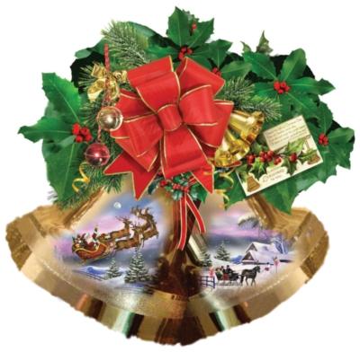 Christmas Bells - 750pc Shape Jigsaw Puzzle by SunsOut