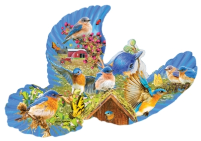 Bluebird Country - 1000pc Shape Jigsaw Puzzle by SunsOut