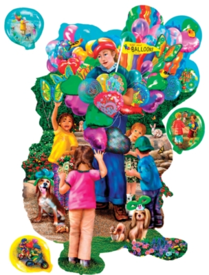 The Balloon Vendor - 1000pc Shape Jigsaw Puzzle by SunsOut