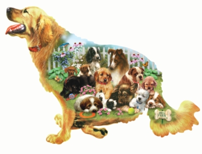 Waiting for a Walk - 800pc Shape Jigsaw Puzzle by SunsOut
