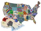 An American Quilt - 600pc Shape Jigsaw Puzzle by SunsOut