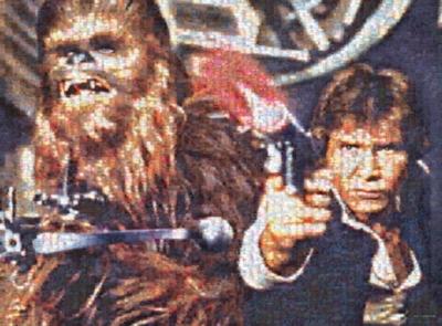 Star Wars: Han Solo & Chewbacca - 1000pc Photomosaic Jigsaw Puzzle by Buffalo Games