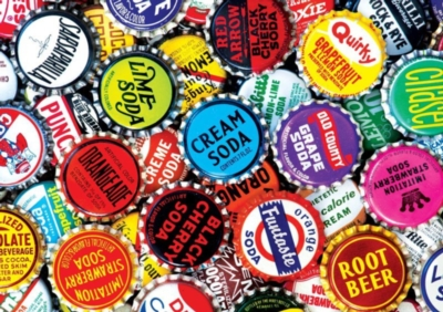 Soda Bottle Caps - 300pc Large Format Jigsaw Puzzle by Buffalo Games