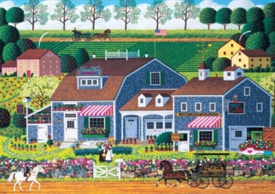 Charles Wysocki: Prairie Wind Flowers - 300pc Large Format Jigsaw Puzzle by Buffalo Games