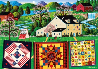 The Quiltmaker Lady - 300pc Jigsaw Puzzle by Buffalo Games