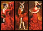 Crimson Dancers - 1000pc Jigsaw Puzzle By Castorland