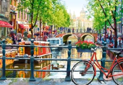 Amsterdam Landscape - 1000pc Jigsaw Puzzle By Castorland