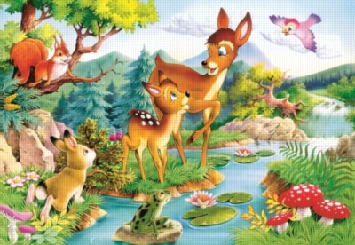 Little deers - 120pc Jigsaw Puzzle By Castorland