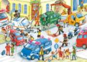 Road Collision - 120pc Jigsaw Puzzle By Castorland