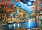 Cabin by the Lake - 2000pc Jigsaw Puzzle By Castorland