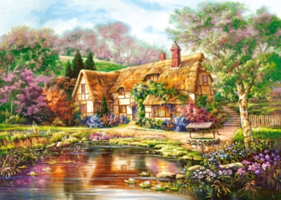 Twilight at Woodgreen Pond - 3000pc Jigsaw Puzzle By Castorland