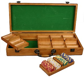 Wood Chip Case (5 Removable Chip Trays & 500 Capacity)