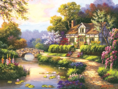 Swan Cottage II - 300pc Large Format Jigsaw Puzzle by SunsOut