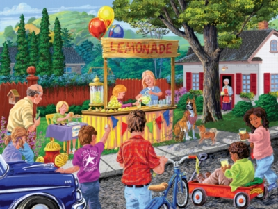 Neighborhood Lemonade Stand - 300pc Large Format Jigsaw Puzzle by SunsOut