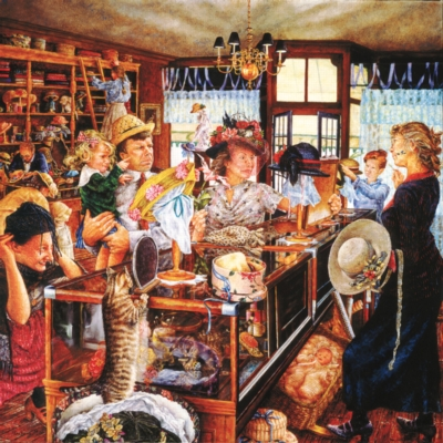 The Millinery Shop - 500pc Jigsaw Puzzle by SunsOut