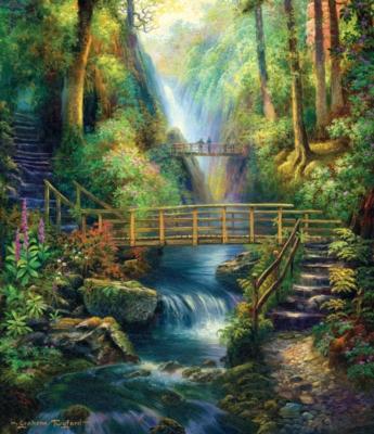 Forest Bridges - 550pc Jigsaw Puzzle by SunsOut