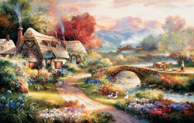 Evening Retreat - 500+pc Large Format Puzzle by SunsOut