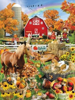 Scarecrow Farm - 300pc Large Format Jigsaw Puzzle by Sunsout