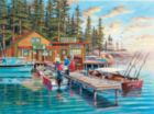 Rainy Lake - 300pc Large Format Jigsaw Puzzle by SunsOut