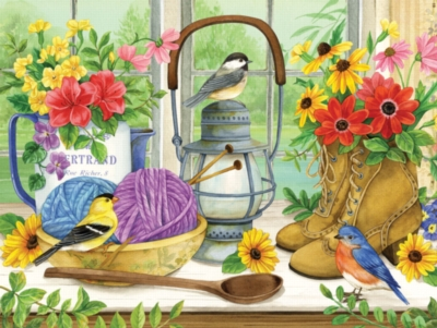 A Lady's Table - 500pc Jigsaw Puzzle by SunsOut