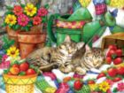 Strawberry Sweethearts - 500pc Jigsaw Puzzle by Sunsout